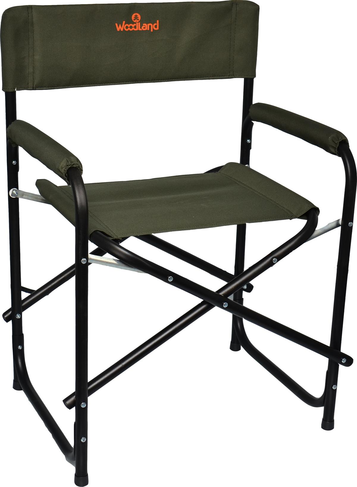 Кресло Woodland Outdoor, складное, кемпинговое, Стулья, кресла<br>МОДЕЛЬ: OUTDOOR МАТЕРИАЛЫ: Сталь ? 22 мм. Oxford <br>600D РАЗМЕР: 56 х 57 х 50 (81) см. ВЕС: 4,9 кг. Усиленная <br>конструкция каркаса. Усилены соединительные <br>элементы. Компактная складная конструкция. <br>Прочный стальной каркас, диаметром 22 мм, <br>с покрытием. Водоотталкивающее ПВХ покрытие <br>ткани Oxford 600D. Максимально допустимая нагрузка <br>120 кг.<br>