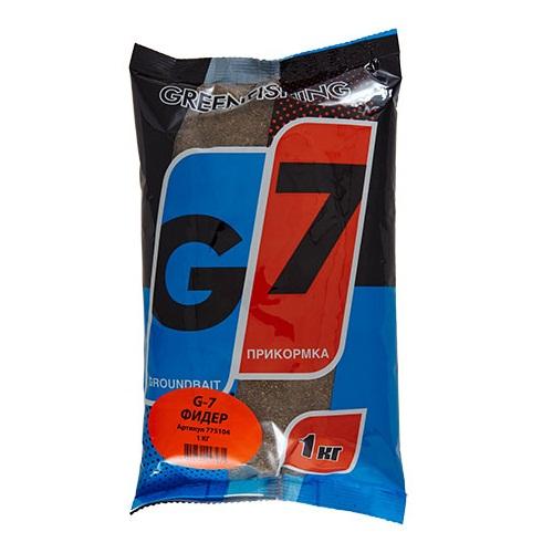 Прикормка Gf G-7 Фидер 1КгПрикормки<br>Прикормка GF G-7 ФИДЕР 1кг пакет 1кг/ароматика:специальная/цвет:светлый/кратн. <br>короба 16шт. «G-7» - Новая линия недорогих <br>и качественных ароматизированных прикормов, <br>имеет сбалансированный состав, отличную <br>ароматизацию и самые популярные у рыболовов <br>ароматы. Идеально подходит для использования <br>на не запрессованных водоемах, где не имеет <br>смысла переплачивать за дорогие добавки <br>и ингредиенты. Рекомендуется использовать <br>как отличное дополнение к «старшим» сериям, <br>таким как GF, Salapin, Prime и Energy.<br><br>Сезон: лето