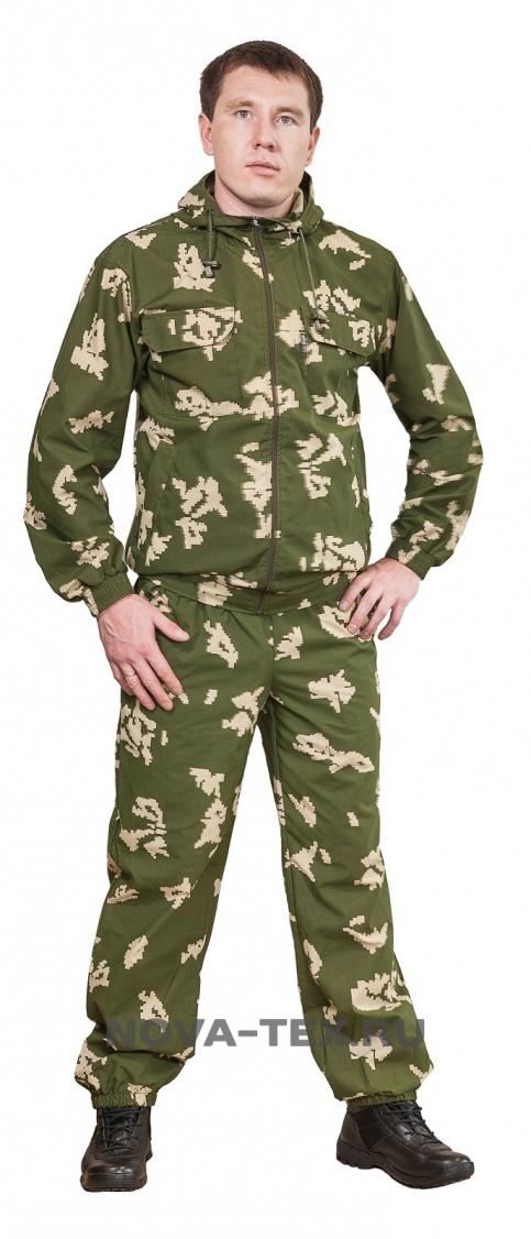 Костюм мужской Пионер (сорочка, цвет: 006 Костюмы неутепленные<br>Летний маскировочный костюм (ТМ «Квест») <br>от компании Novatex. Этот классический камуфляжный <br>костюм предназначен для тех, кто ценит сочетание <br>цена-качество. Лидер продаж марки «Квест». <br>Костюм «Пионер» состоит из укороченной <br>куртки с капюшоном и брюк. Брюки прямые <br>на резинке с утяжкой. Для пошива используют <br>легкую смесовую ткань «сорочка». Благодаря <br>большому содержанию хлопка (65%) и не высокой <br>плотности (120г/м), она не создает дискомфорта <br>в жаркую погоду. В тоже время, устойчива <br>к выгоранию, не теряет форму и имеет более <br>продолжительный срок службы по сравнению <br>с обычным х/б. Костюм «Пионер» активно применяется <br>силовыми структурами, туристами, дачниками, <br>любителями активного отдыха.<br><br>Пол: мужской<br>Размер: 56-58<br>Рост: 182-188<br>Сезон: лето<br>Материал: текстиль
