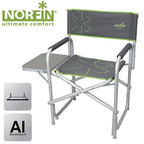 Кресло Складное Norfin Vantaa Nf АлюминиевоеСтулья, кресла<br>Складное кресло - прекрасный выбор для <br>ценящих комфорт рыбаков. Усиленный алюминиевый <br>каркас выдержит максимальные нагрузки. <br>Есть откидной столик. Конструкция ножек <br>придает дополнительную устойчивость и <br>препятствует проваливанию кресла в песок <br>или грунт. Особенности: - габариты 48x35x47/82 <br>см; - размер в сложенном виде 82x47x12 см; - максимальная <br>нагрузка 100 кг; - каркас алюминий 25 мм.<br><br>Сезон: лето<br>Цвет: зеленый<br>Материал: 600D polyester