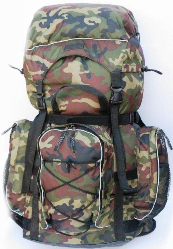 Рюкзак Трекинг ХСН (70 литров) (Камуфляж, Рюкзаки<br>Отлично подойдет для любителей походов, <br>экспедиций и активного отдыха. Изготовлен <br>из водоотталкивающего материала. Объем <br>70 литров. Особенности: - спина с вентиляцией; <br>- анатомические плечевые лямки; - равномерное <br>распределение нагрузки; - 3 внешних кармана; <br>- наличие объемного клапана с карманом.<br><br>Пол: унисекс<br>Сезон: Всесезонная<br>Цвет: зеленый<br>Материал: Oxford 600 D PU рип-стоп