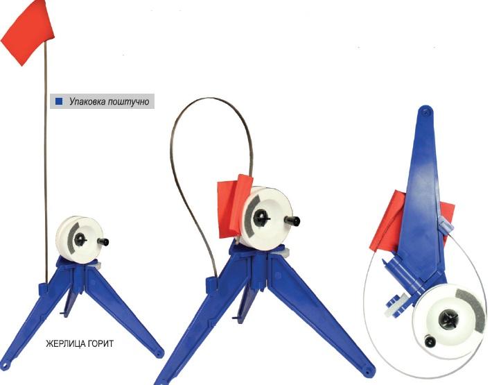 Жерлица зимняя Пирс неоснащеннаяЖерлицы, кружки<br>Жерлица - компактна в транспортном состоянии <br>-в настороженное положение и обратно приводится <br>за 3 секунды -возможность торможения, или <br>полной фиксации катушки фрикционным винтом <br>-в транспортном состоянии двойник (тройник) <br>прячется в пенополиуретановую подушку <br>-пенопластовая катушка с индикатором вращения<br>