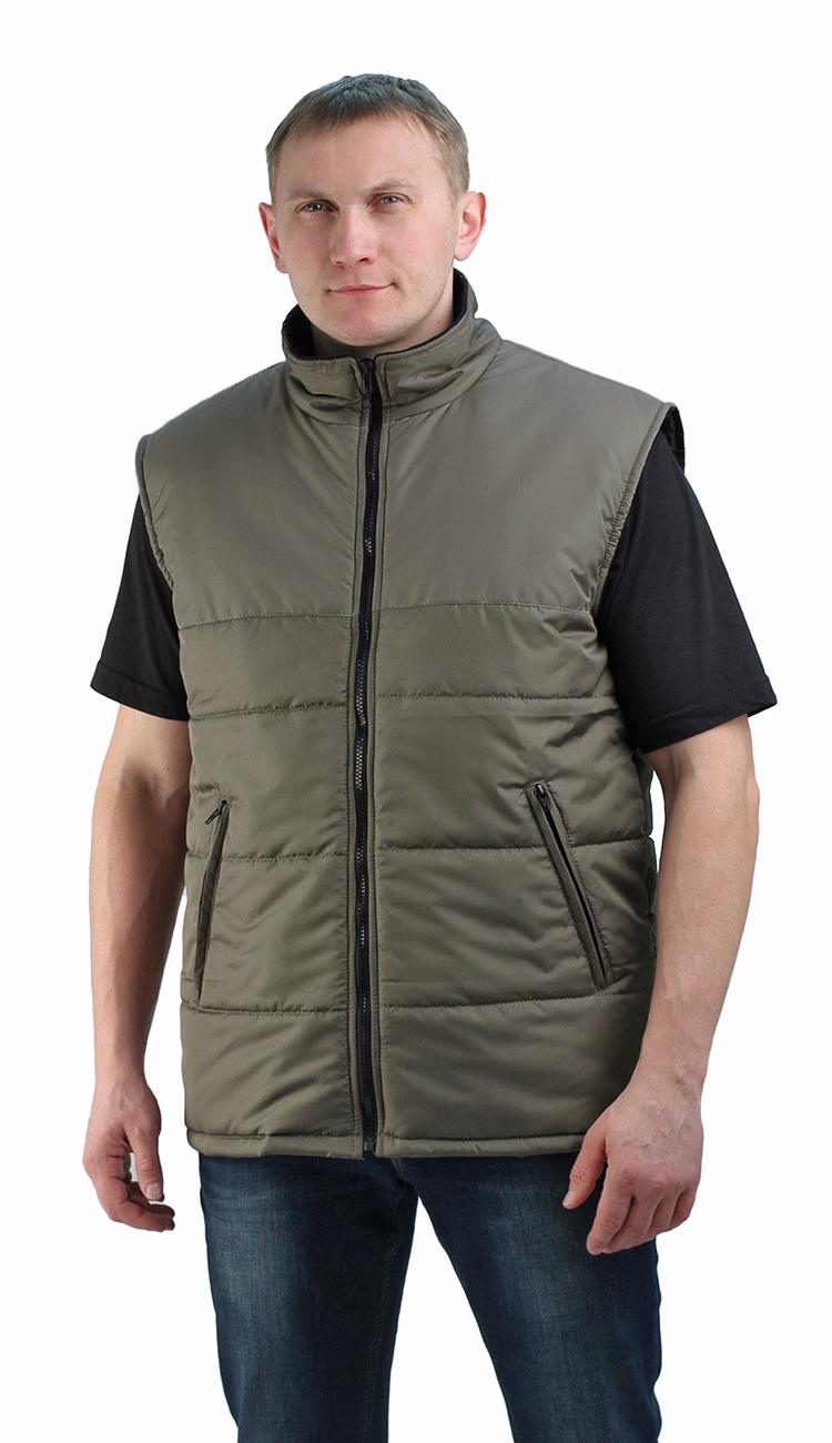 Жилет утепленный Nordwig-Rapid хаки, тк дюспа Жилеты утепленные<br>Камуфлированный унверсальный летний костюм <br>для охоты, рыбалки и активного отдыха . Состоит <br>из куртки с капюшоном и брюк. Куртка: • Регулируемый <br>капюшон. • Центральная застежка молния. <br>• Боковые и нагрудный прорезные карманы <br>на молнии. • Низ куртки и манжеты на резинке. <br>Брюки: • Два врезных кармана и два накладных <br>на молнии. • Пояс и низ брюк на резинке.<br><br>Пол: мужской<br>Размер: 56-58<br>Сезон: демисезонный<br>Цвет: оливковый