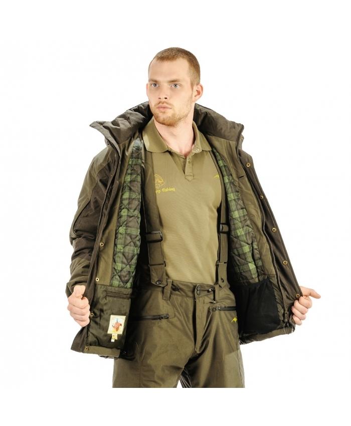 Куртка Aquatic КК-02 зимняя (XL)Куртки утепленные<br>Легкая и теплая Куртка КК-02 изготовлена <br>из мягкой, бесшумной, износоустойчивой <br>ткани с показателями мембраны 5 000/5 000 на <br>основе японского стандарта. Куртка прекрасно <br>подойдет в зимний сезон как для любителей <br>рыбалки, охоты, активного отдыха, так и для <br>любителей стиля одежды Милитари. Температурный <br>режим комфорта использования до -25С Швы <br>проклеены, - Высокий штормовой воротник <br>;- Съемный капюшон на молнии имеет козырек <br>с регулировкой; - Центральная встречная <br>планка ;- Ширина рукава регулируется патами <br>на липучке; -2 боковых кармана на водонепроницаемой <br>молнии; 2 кармана на рукавах для мелочей; <br>1 внутренний накладной карман для документов <br>и гаджетов с прорезной петлей для вывода <br>наушников; 1 карман на молнии под центральной <br>планкой для гаджетов; 1 внутренний карман <br>; 1 накладной большой карман с молниями по <br>бокам на спинке куртки.- Комбинированная <br>подкладка на флисе.<br><br>Пол: мужской<br>Размер: XL<br>Сезон: зима<br>Цвет: оливковый