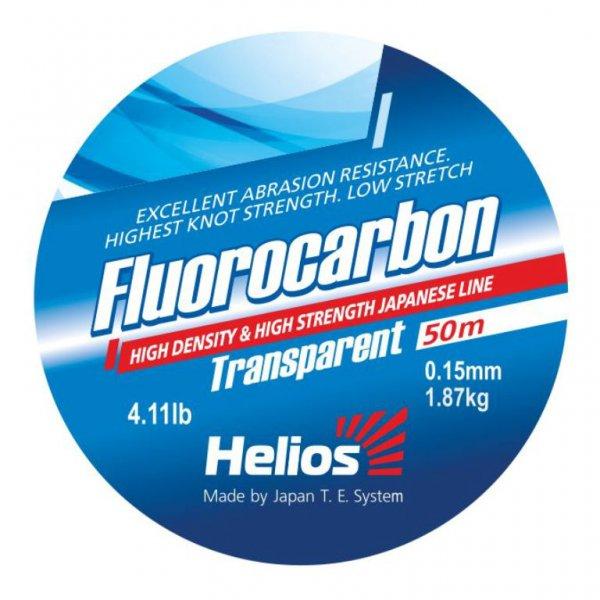 Леска Helios FLUOROCARBON Transparent 0,15mm/50 (HS-FCT 15/50), штЛеска монофильная флюорокарбоновая<br>100% флюрокарбон. Повышенная износостойкость. <br>Практически невидима в воде. Абсолютно <br>не впитывает воду. Низкая растяжимость. <br>Устойчива к ультрафиолету. Леска выпускается <br>в размотке 50 метров следующих диаметров:0,15; <br>0,18; 0,25; 0,30; 0,35.<br><br>Сезон: лето