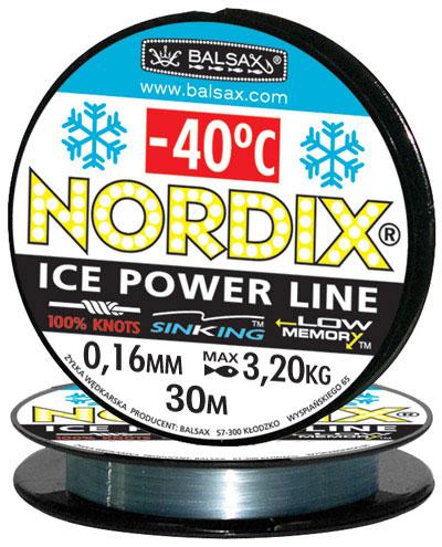 Леска BALSAX Nordix 30м 0,16 (3,2кг)Леска монофильная<br>Леска Nordix - создана специально для зимней <br>ловли. Очень хорошо выдерживает низкую <br>температуру. Поверхность обработана таким <br>образом, что она не обмерзает как стандартные <br>лески. Отлично подходит для подледного <br>лова. Даже в самом холодном климате, при <br>температуре до -40, она сохраняет свои свойства.<br><br>Сезон: зима