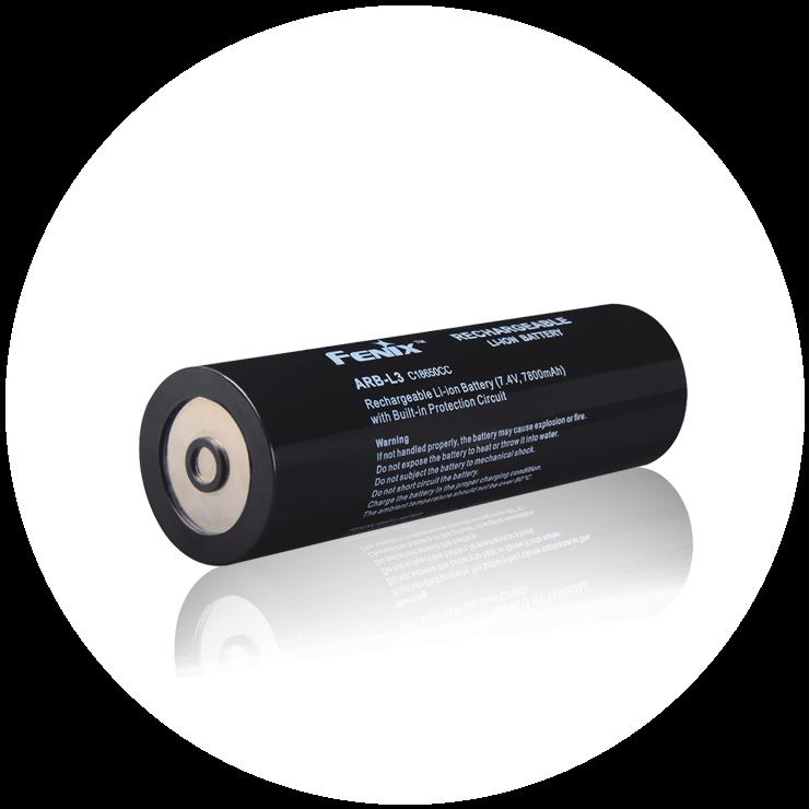 Аккумулятор Fenix 7800 mAh для Fenix RC40Аксессуары к фонарям<br>Описание аккумулятора Fenix ARB-L3 (7800mAh): ARB-L3 <br>это самый емкий аккумулятор в ассортименте <br>компании Fenix! 7800 mAh на сегодняшний день рекордная <br>емкость для данного формата, и данные аккумуляторы <br>позволят вам использовать ваши устройства <br>«по максимуму» В аккумуляторе используются <br>самые емкие на сегодняшний день элементы <br>питания, а также защитная плата Fenix. Технические <br>характеристики: Модель : ARB-L3 Ёмкость: 7800 <br>mAh Напряжение : 7.4v Вес: 4345 Размер: диаметр: <br>44мм , длина 145 мм Особенности: Итак, почему <br>же вам стоит остановить внимание именно <br>на данном аккумуляторе, ведь на рынке уже <br>существуют другие компании предлагающие <br>защищенные аккумуляторы емкостью 7800 mAh: <br>Качество - данный аккумулятор все свои параметры <br>отрабатывает на «все 100». С аккумулятором <br>Fenix вы можете быть уверенны в непревзойденном <br>качестве и надежности. Надежность -данный <br>аккумулятор обладает уникальными особенностями <br>которыми не обладают конкуренты. А именно: <br>защита от перезаряда, переразряда, клапан <br>для регулирования давления в аккумуляторе, <br>тройная защита от перегрева а так же особенности <br>конструкции которые обеспечивают аккумулятору <br>максимальную ударопрочность. Цена указана <br>за 1 штуку!<br>