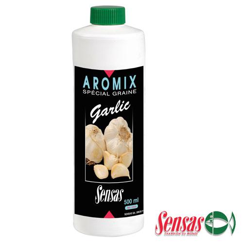 Ароматизатор Sensas Aromix Garlic 0.5ЛАроматизаторы<br>Ароматизатор Sensas AROMIX Garlic 0.5л чеснок/10-25% <br>от объёма используемой воды/уп.0,5л AROMIX GARLIC <br>- новая добавка, которая придётся по вкусу <br>карасю, карпу, плотве и другой крупной рыбе. <br>Показывает наилучшие результаты при ловле <br>в холодной воде, его конёк - это весенне-осенняя <br>рыбалка.<br><br>Сезон: лето