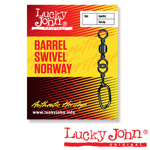 Вертлюги C Застежкой Lucky John Barrel And Norway 010 • 10Шт. LJ5031-010