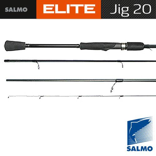 Спиннинг Salmo Elite Jig 20 2.60Спинниги<br>Удилище спин. Salmo Elite JIG 20 2.60 дл.2,60м./вес130г/тест5-20/кол. <br>Секц2/дл. Тр.135 Очень легкий и элегантный <br>спиннинг, специально предназначенный для <br>ловли на джиг-приманки. На бланке установлены <br>облегченные кольца со вставками SIC по новой <br>концепции. Вклеенная вершинка отлично реагирует <br>на все касания приманкой дна и аккуратные <br>поклевки. Соединение колен типа OVER STEEK. Рукоятка <br>разнесенная, из материала EVA с передней <br>гайкой крепления катушки Материал бланка <br>удилища – углеволокно (IM7) Строй бланка <br>быстрый Класс спиннинга L, ML, M Конструкция <br>штекерная Соединение колен типа OVER STEEK Кольца <br>пропускные: – облегченные одноопорные <br>– со вставками SIC – с расстановкой по новой <br>концепции Рукоятка: – разнесенная из материала <br>EVA Катушкодержатель: – винтового типа Проволочная <br>петля для закрепления приманок<br><br>Сезон: лето