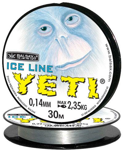 Леска BALSAX Yeti 30м 0,14 (2,35кг)Леска монофильная<br>Леска Yeti - создана специально для зимней <br>ловли. Очень хорошо выдерживает низкую <br>температуру. Поверхность обработана таким <br>образом, что она не обмерзает как стандартные <br>лески. Отлично подходит для подледного <br>лова. Даже в самом холодном климате, при <br>температуре до -40, она сохраняет свои свойства.<br><br>Сезон: зима