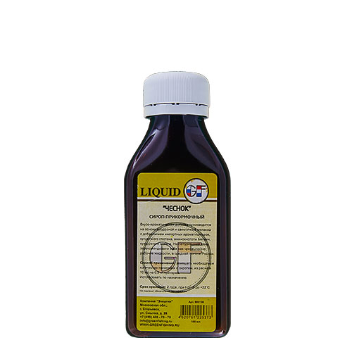 АроматизаторGfLiquidЧеснок0.100ЛАроматизаторы<br>АроматизаторGFLIQUIDЧеснок0.100л Чеснок/100мл <br>Производится на основе Кукурузной Мелласы <br>с добавлением ароматизаторов изготовленных <br>во Франции, кукурузного глютена, аминокислоты <br>Бетаин и кукурузного сиропа. А также ряда <br>химических элементов, стимулирующих аппетит <br>рыбы. Имеют различные ароматы. На сегодняшний <br>день зарекомендовали себя как чрезвычайно <br>рабочие жидкости в средней полосе России. <br>Способ применения: замешать необходимое <br>количество прикормки с экстрактом, из расчета <br>10 мл на 0,5 кг прикормки, использовать по <br>назначению.<br><br>Сезон: лето