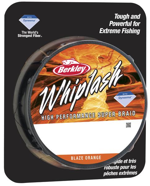 Леска плетеная BERKLEY WHIPLASH 0.12mm (110m)(16.7kg)(оранжевая)Леска плетеная<br>Исключительно прочный шнур идеально подойдет <br>рыболовам, которым нужен действительно <br>прочный шнур. Троллинг, глубоководная ловля <br>на джиг, ловля крупных сомов, карпов – везде <br>можно использовать шнур Whiplash.<br>
