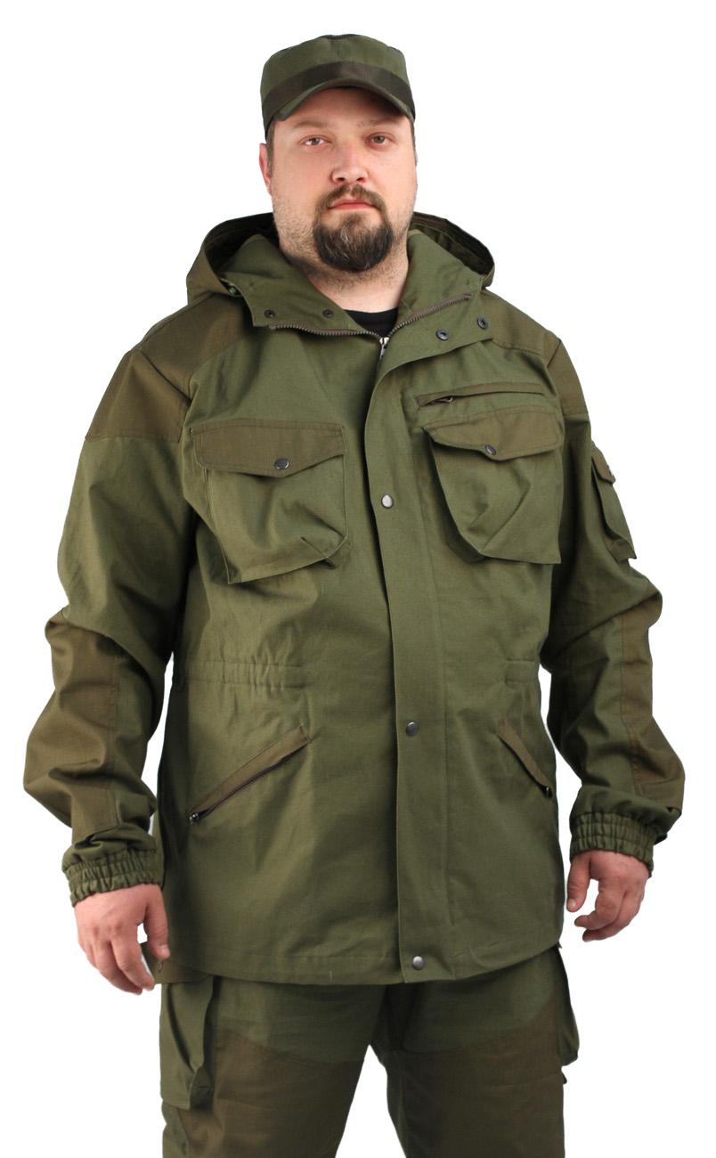 Костюм мужской Gerkon Tibet летний т. Палатка Костюмы неутепленные<br>Модельные особенности: Куртка, брюки -- <br>полочка куртки на подкладке-сетка – усилительные <br>накладки в области колен и локтей из ткани <br>рип-стоп – съемная противомоскитная сетка <br>– куртка с застежкой-молнией и ветрозащитным <br>клапаном – капюшон на подкладке-сетка с <br>регулировкой по овалу лица и объему – прорезные <br>и накладные карманы с клапанами на кнопках <br>– талия и низ брюк на резинке – дополнительная <br>фиксация брюк в области колена - пуфта по <br>низу брюк<br><br>Пол: мужской<br>Сезон: лето<br>Материал: «Палаточное полотно» (100% хлопок), пл. 250