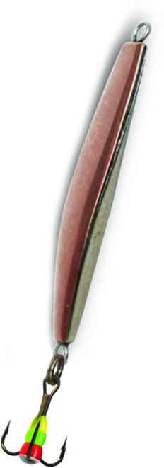 Блесна зимняя SWD DIJ 011 (51мм, вес 12г, 2 коронки Блесны<br>Зимняя вертикальная паянная блесна с 2-мя <br>коронками (с одной стороны никель, с другой <br>медь). Предназначена для отвесного блеснения. <br>Длина 51мм, вес 12г. Оснащена тройником №8 <br>со светонакопительной каплей. Упакована <br>в блистер.<br>