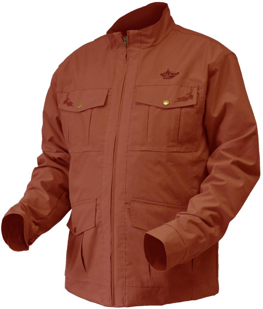 Куртка ХСН X-Style 1 (9718-10) (Терракот, 54 - 56 / Куртки неутепленные<br>Модель идеально подходит для города, походов <br>в лес, охоты и рыбалки. Особенности: - 7 карманов <br>(2 накладных нагрудных кармана; 2 накладных <br>кармана в области талии; 3 внутренних кармана); <br>- бесшумный материал; - застегивается на <br>молнию; - высокий воротник; - застегивающиеся <br>на кнопку манжеты.<br><br>Пол: мужской<br>Размер: 54 - 56 / 188<br>Сезон: лето<br>Цвет: красный<br>Материал: Высокопрочная ткань с пич-эффектом