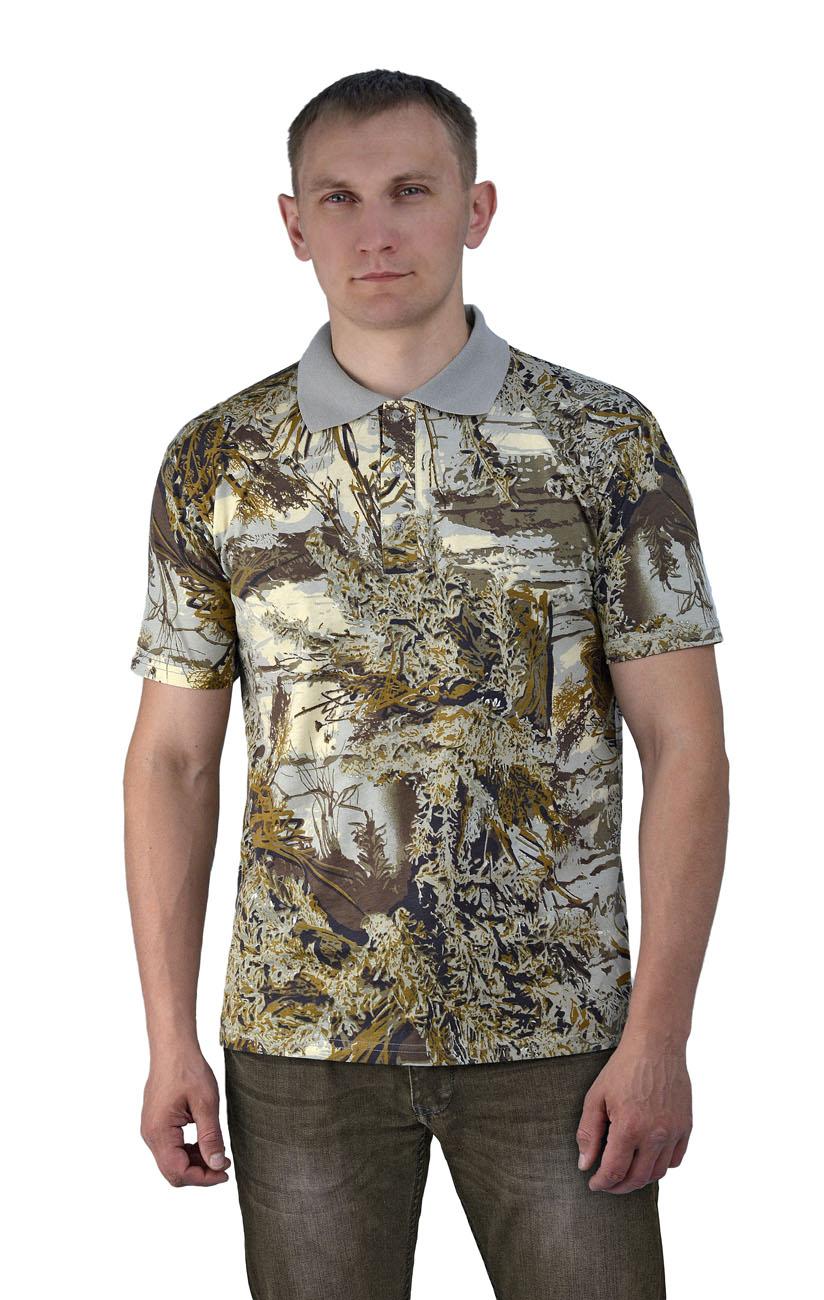 Рубашка-поло серый мох (52)Поло<br>- прямой силуэт - короткий рукав - застежка-планка <br>на три пуговицы<br><br>Пол: мужской<br>Размер: 52<br>Сезон: лето<br>Цвет: бежевый<br>Материал: 100% хлопок