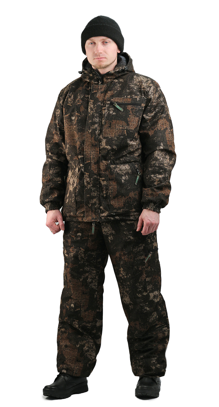 Костюм мужской Турист 1 демисезонный, Костюмы утепленные<br>Камуфлированный унверсальный летний костюм <br>для охоты, рыбалки и активного отдыха . Состоит <br>из куртки с капюшоном и брюк. Куртка: • Регулируемый <br>капюшон. • Центральная застежка молния. <br>• Боковые и нагрудный прорезные карманы <br>на молнии. • Низ куртки и манжеты на резинке. <br>Брюки: • Два врезных кармана и два накладных <br>на молнии. • Пояс и низ брюк на резинке.<br><br>Пол: мужской<br>Размер: 56-58<br>Рост: 182-188<br>Сезон: демисезонный<br>Цвет: коричневый