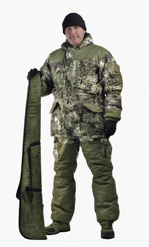 Костюм мужской Nordwig Donbass зимний кмф т.Алова Костюмы утепленные<br>Модель – рекомендуется для активного отдыха, <br>охоты, рыбалки и туризма Костюм оснащён <br>объёмными карманами «антивор» - Куртка <br>на молнии и закрывается ветрозащитной планкой <br>на пуговицах - Внутри куртки ветрозащитный <br>пояс - Внутренние трикотажные манжеты – <br>Фиксированная регулировка по талии, локтевым <br>частям рукава и нижним частям брюк - Дополнительное <br>усиления на плечах, локтях и коленях – Низ <br>рукава и брюк на резинке – Брюки с отстёгивающейся <br>утеплённой спинкой на бретелях.<br><br>Пол: мужской<br>Размер: 56-58<br>Рост: 170-176<br>Сезон: зима<br>Цвет: оливковый<br>Материал: мембрана