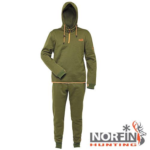 Термобелье Norfin Hunting Cosy LineКомплекты термобелья<br>Термобелье Norfin Hunting COSY LINE мат.полиэстер/цв.темно-зеленый <br>Нижнее толстое раздельное термобелье. Мягкий, <br>легкий и «дышащий» материал обеспечивает <br>комфортные условия для тела при пониженных <br>температурах. Оно одевается на тонкое термобелье- <br>когда достаточно холодно, или на голое тело. <br>После интенсивной работы или продолжительного <br>передвижения, испарине достаточно 15- 20 минут <br>для «выхода» наружу, при условии, что верхняя <br>одежда – мембрана. Тело становится сухим <br>и не замерзнет на холоде. Поэтому, под термобелье, <br>ни в коем случае не поддевается хлопчатобумажная <br>нижняя одежда, которая впитывает влагу <br>и остается сырой. Капюшон на кнопках крепится <br>к кофте Фиксатор, стягивающий капюшон Надежная <br>застежка-молния Эластичный пояс Эластичные <br>манжеты внизу Материал: полиэстер<br><br>Пол: мужской<br>Размер: XXXL<br>Сезон: зима
