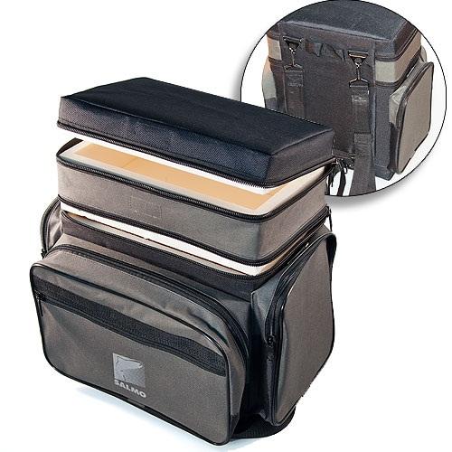 Ящик-Сумка-Рюкзак Рыболовный Зимний Пенопластовый Ящики рыболова<br>Ящик-рюкзак рыболов. зим. пенопл. 2-х ярус. <br>B-2LUX пенопл.в сумке/2 яр./разм.30х19х35(см) Ящик-сумка-рюкзак <br>зимний рыболовный из плотного авиационного <br>пенопласта. Внутренний объём - 3+10 литров<br><br>Сезон: Зимний