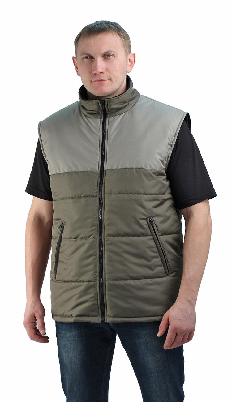 Жилет утепленный Nordwig-Rapid хаки-олива, тк Жилеты утепленные<br>Камуфлированный унверсальный летний костюм <br>для охоты, рыбалки и активного отдыха . Состоит <br>из куртки с капюшоном и брюк. Куртка: • Регулируемый <br>капюшон. • Центральная застежка молния. <br>• Боковые и нагрудный прорезные карманы <br>на молнии. • Низ куртки и манжеты на резинке. <br>Брюки: • Два врезных кармана и два накладных <br>на молнии. • Пояс и низ брюк на резинке.<br><br>Пол: мужской<br>Размер: 44-46<br>Сезон: демисезонный<br>Цвет: оливковый