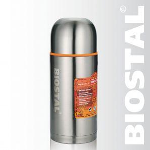 Термос Biostal Спорт NBP-750 0,75л (узкое горло,  2 пробки) термос 0 75 л biostal 750ny 2