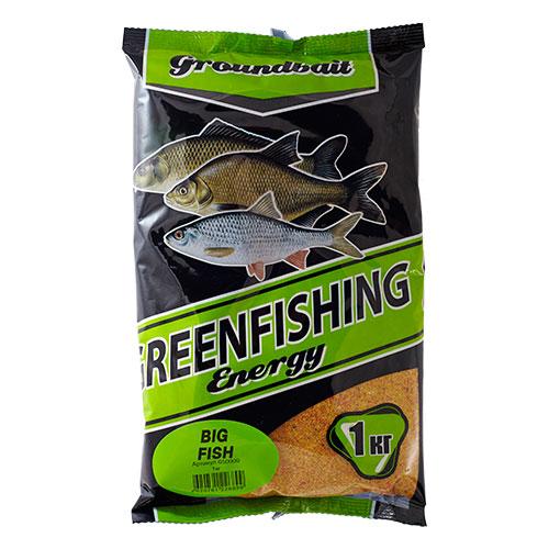 Прикормка Gf Energy Big Fish 1.000КгПрикормки<br>Прикормка GF Energy BIG FISH 1.000кг пакет 1кг/ароматика: <br>специализированная/цвет: желто-красный <br>«Greenfishing Energy»- новая серия первоклассной <br>прикормки от Компании «Энергия», созданная <br>по оригинальному рецепту, с использованием <br>только лучших ингредиентов от ведущих производителей <br>РФ и Европы. Это тяжелая прикормка с мелкой <br>и средней фракцией, ароматы и цвет ярко <br>выраженные, очень стойкие за счет использования <br>оригинальных технологий и современного <br>оборудования, выходит в виде целевых прикормок, <br>в каждой из которых тщательным образом <br>подобран состав, цвет и аромат к тому или <br>иному виду рыб и условиям ловли. Состав: <br>Бисквит, лен, конопля, кукуруза, злаковые, <br>сахар, соль, утяжелитель, куркума, специи, <br>пеллетс, пищевой краситель, ароматизаторы.<br><br>Сезон: лето