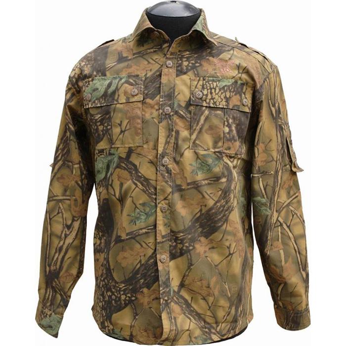 Рубашка ХСН Фазан (9486-2) (Лес, 48/182-188, 9486-2)Рубашки д/рукав<br>Рубашка мужская подходит для ношения в <br>летний сезон. На рубашке есть накладные <br>карманы. Для защиты от влаги материал обработан <br>водоотталкивающей пропиткой. Комфортная <br>температура эксплуатации: от +20°С до +30°С.<br><br>Пол: мужской<br>Размер: 48/182-188<br>Сезон: лето<br>Цвет: коричневый<br>Материал: 100% хлопок