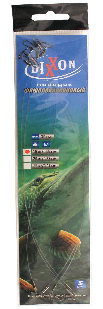 Поводки фрюрокарбоновые DIXXON 30см, 0.55-15кг Поводки флюорокарбон<br><br>