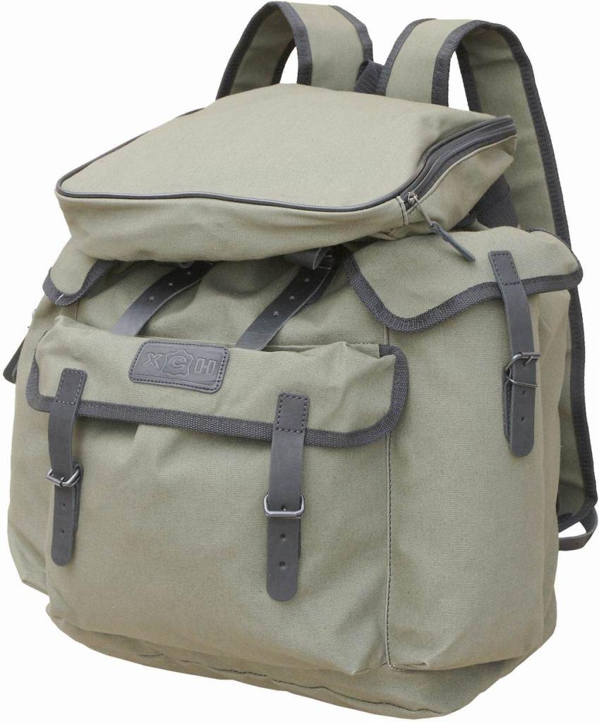 Рюкзак №1 ХСНРюкзаки<br>Универсальная модель, испытанная и хорошо <br>зарекомендовавшая себя среди охотников, <br>рыбаков и начинающих туристов. Объем 30 литров. <br>Особенности: - водоотталкивающая и искрогасящая <br>пропитка ткани; - 3 наружных кармана; - застегивается <br>на кожаные ремни; - плечевые лямки из строп.<br><br>Пол: унисекс<br>Сезон: Всесезонная<br>Материал: Авизент + кожа