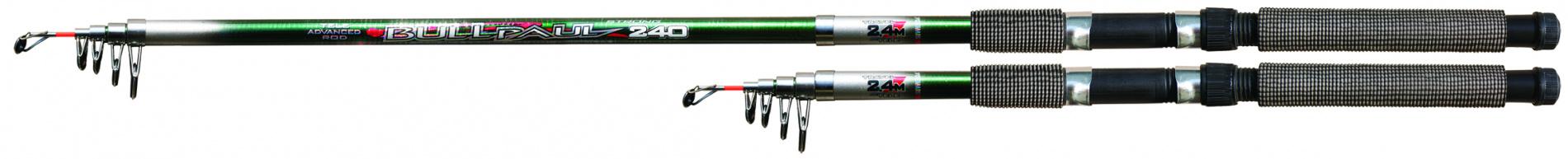 Спиннинг тел. SWD BULL-PAUL 3,6м (30-60г)Спинниги<br>Телескопический спиннинг длиной 3,6м с тестом <br>30-60г изготовленный из стеклопластика. Дополнительно <br>может использоваться в качестве донного <br>или поплавочного удилища.<br>
