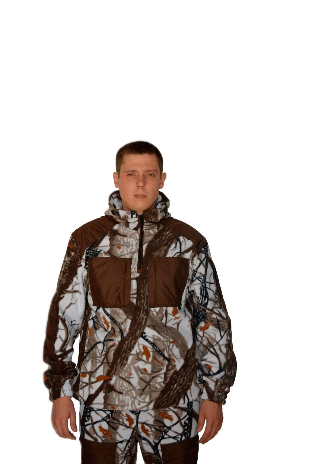 Флисовый костюм Сурок кмф Белый лес с Костюмы флисовые<br><br><br>Пол: мужской<br>Сезон: демисезонный