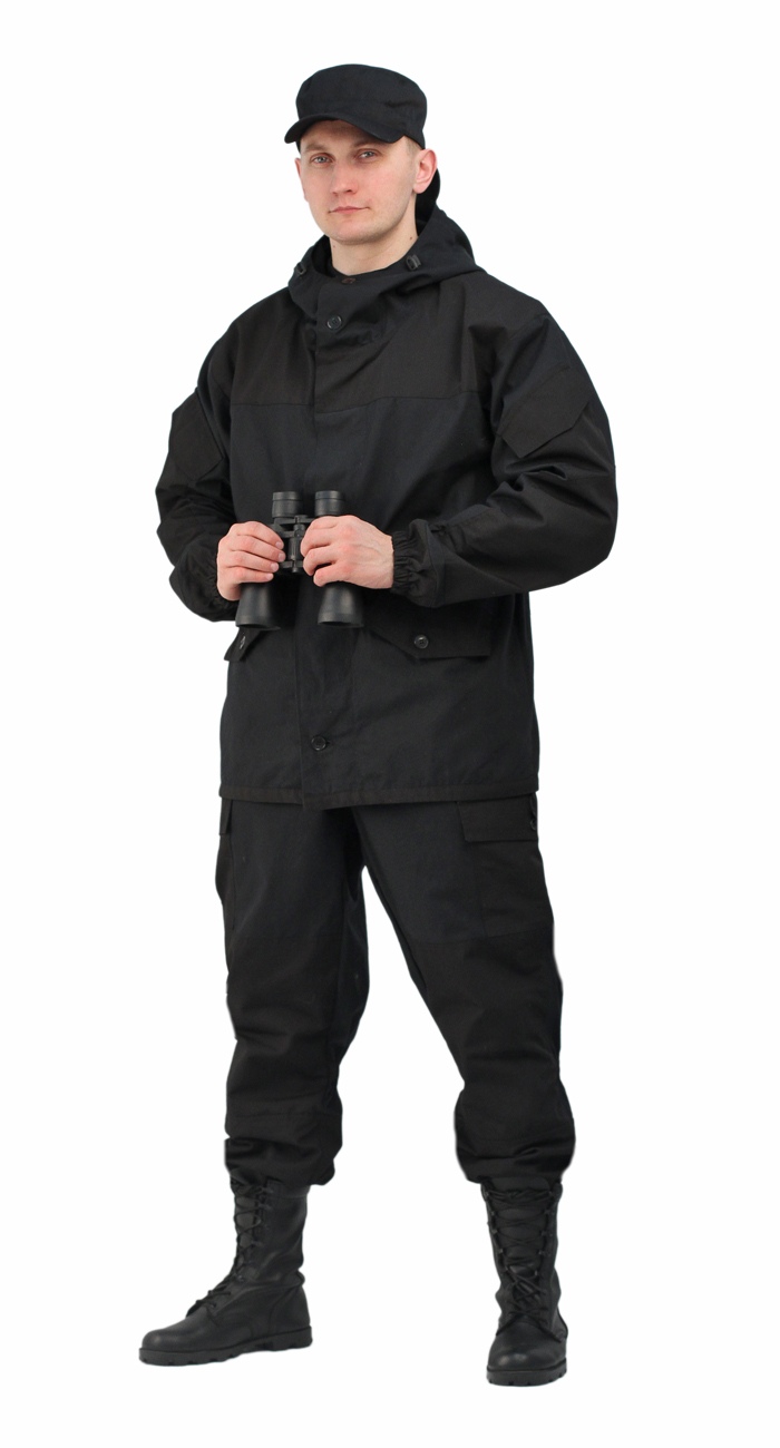 Костюм мужской Горка 3 палатка 100% хлопок/рип-стоп Костюмы неутепленные<br>Куртка: • свободного кроя; • застёжка центральная <br>супатная, на петлю и пуговицу; • кокетка, <br>накладки и карманы из отделочной ткани; <br>• 2 нижних прорезных кармана с клапаном, <br>на петлю и пуговицу ; • внутренний отлетной <br>карман на пуговицу; • на рукавах по 1 накладному <br>наклонному карману с клапаном на петлю <br>и пуговицу • в области локтя усиливающие <br>фигурные накладки; • низ рукавов на резинке; <br>• капюшон двойной, с козырьком, имеет утягивающую <br>кулису для регулировки по объему ; • подгонка <br>по талии с помощью кулиски; Брюки: • свободного <br>покроя; • гульфик с застёжкой на петлю и <br>пуговицу; • 2 верхних кармана в боковых <br>швах, • в области коленей, на задних половинках <br>брюк в области сидения – усиливающие накладки; <br>• 2 боковых накладных кармана с клапаном; <br>• 2 задних накладных фигурных кармана на <br>пуговицах; • крой деталей в области коленей <br>препятствует их вытягиванию; • Пылезащитная <br>юбка из бязи по низу брюк; • задние половинки <br>под коленом собраны резинкой; • пояс на <br>резинке; • низ на резинке;<br><br>Пол: мужской<br>Размер: 52-54<br>Рост: 182-188<br>Сезон: лето<br>Цвет: черный<br>Материал: «Палаточное полотно» (100% хлопок), пл. 270