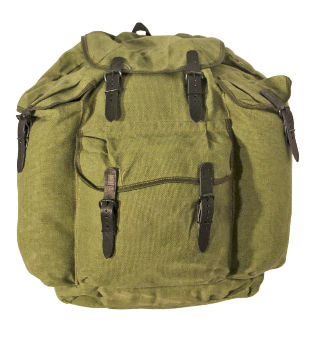 Рюкзак СССР, брезент, кожа 35л.