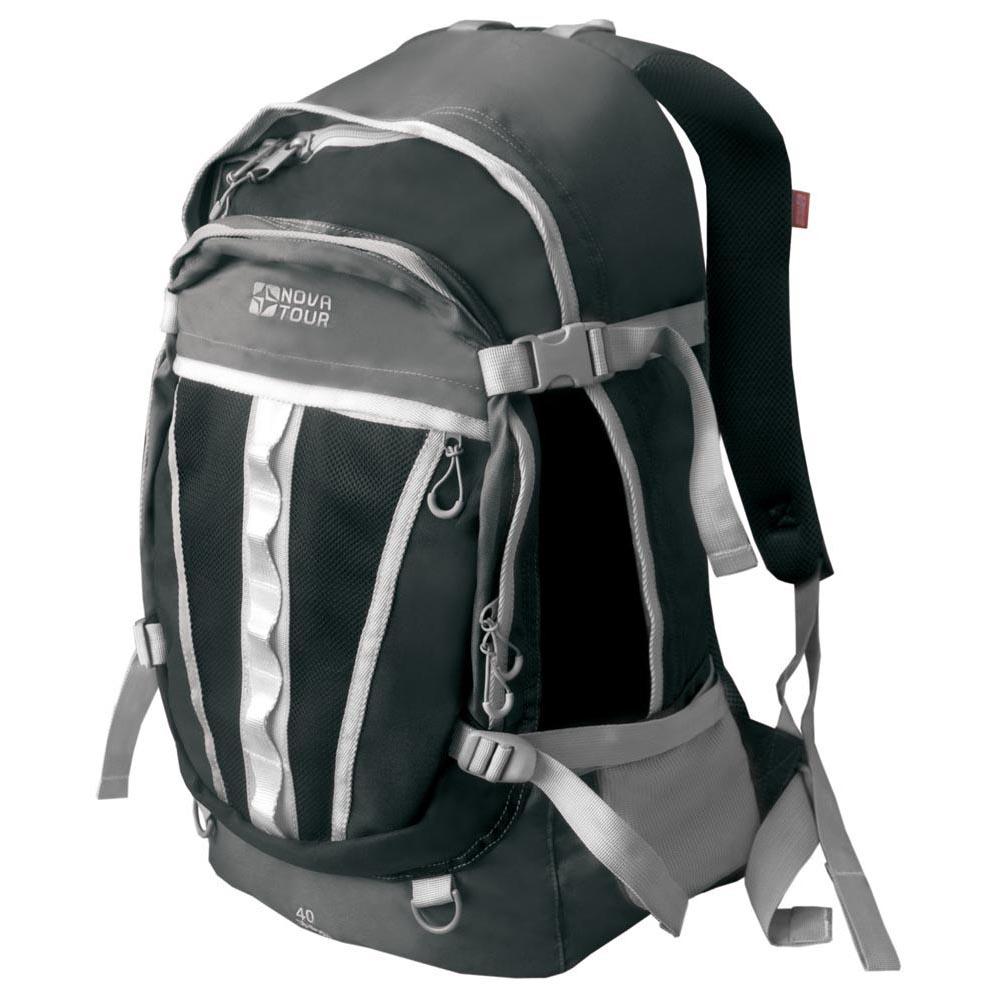 Рюкзак Слалом 40 V2 cерый/черный NOVA TOURРюкзаки<br>Городской рюкзак большого объема. Если <br>все, что нужно ежедневно носить с собой, <br>не помещается в обычный рюкзак, то «Слалом <br>40 V2» и «Слалом 55 V2» специально для вас. Два <br>вместительных отделения можно уменьшить <br>боковыми стяжками или наоборот, если что-то <br>не поместилось внутри, навесить снаружи <br>на узлы крепления. Для удобства переноски <br>тяжелого груза, на спинке предусмотрена <br>удобная система подушек Air Mesh. Размеры: Высота <br>50см. Ширина 25см. Длина 32см.<br><br>Пол: унисекс<br>Цвет: серый