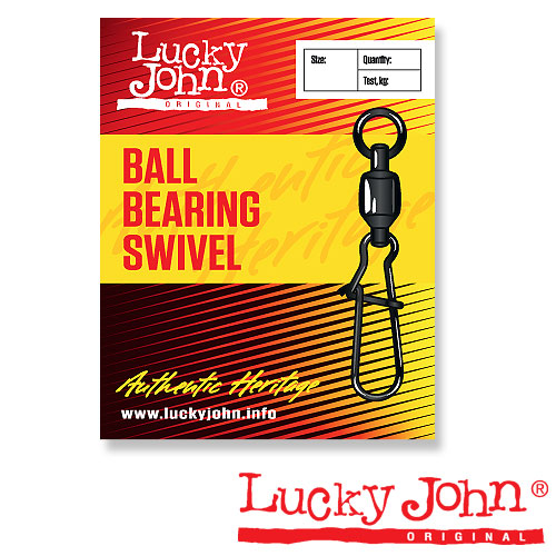 Вертлюги C Застежкой И Подш. Lucky John Ball Bearing • And Fastlock 000 3Шт.