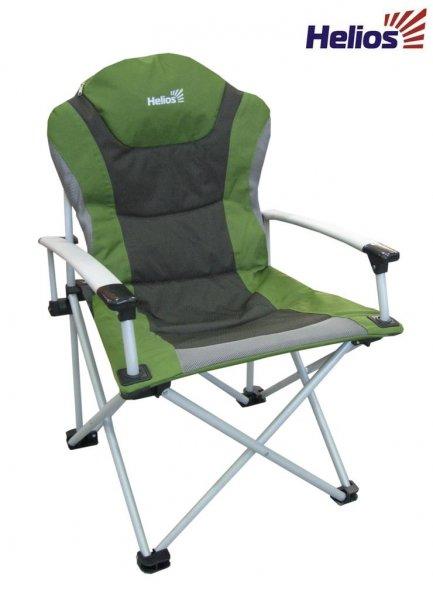 Кресло складное HELIOS HS750-21310Стулья, кресла<br>Кресло складное с удобным мягким сиденьем <br>и подлокотниками. Подстаканник в подлокотнике. <br>Смягченны пенкой сиденье и спинка.Чехол <br>для хранения и транcпортировки. Особенность <br>модели: увеличенный размер сиденья. Размеры: <br>65х51х48/102 см. Каркас: стальная труба (диаметр <br>22, 16 мм), порошковое покрытие. Ткань: полиэстер <br>600D. Допустимая нагрузка: 120 кг. Вес - 6,2 кг.<br>