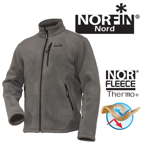 Куртка Флисовая Norfin North Gray (M, 476102-M)