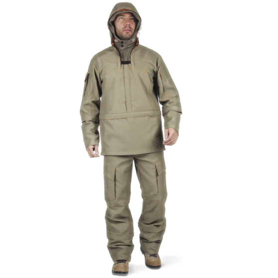 Костюм Sobol БИОСЕЙФ ПРЕМИУМ противоэнцефалитный Костюмы противоэнцефалитные<br>Надежный противоэнцефалитный костюм, защищающий <br>от насекомых. В нем на пути клеща устроены <br>специальные ловушки, препятствующие движению. <br>В комплект входит куртка и брюки. КУРТКА: <br>- отрезная по линии талии; - с механической <br>ловушкой; - подкладка в нижней части, заправляется <br>в брюки; - застегивается на молнию с ветрозащитной <br>планкой; - регулируемый капюшон с козырьком, <br>- съёмная противомоскитная сетка; - накладные <br>нагрудные карманы, застегивающиеся на молнию; <br>- рукав с механической ловушкой; - карман <br>на левом рукаве, застегивающийся на молнию, <br>- накладной карман на правом рукаве. БРЮКИ: <br>- шлевки на поясе; - застёжка - «гульф» с молнией; <br>- с механическими ловушками на штанинах; <br>- внутренний манжет, который заправляется <br>в обувь; - объёмные накладные карманы; - вытачки <br>на коленях.<br><br>Пол: мужской<br>Размер: 56-58<br>Рост: 182-188<br>Сезон: лето<br>Цвет: оливковый