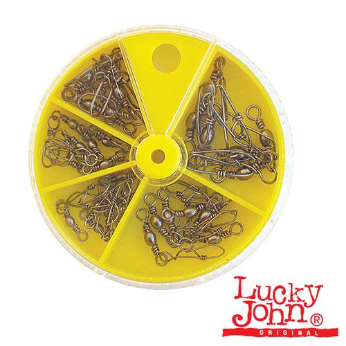 Вертлюги C Застежкой Lucky John 30Шт. НаборВертлюги с застежкой<br>Вертлюги c застеж. Lucky John 30шт. набор тест <br>19кг./кол.в уп.5шт. Вертлюжки и вертлюжки-застежки, <br>представленные данными моделями, изготовлены <br>в Японии на специализированном заводе. <br>Все эти детали, обязательно входящие в комплектацию <br>любых рыболовных оснасток, из- готовлены <br>из высококачественной стали на современном <br>оборудовании и отвечают самым жестким рыболовным <br>требованиям. Высочайшее качество этой соединительной <br>фурнитуры не станет поводом для потери <br>не только трофейной рыбы, но и дорогой для <br>вас приманки. На таких мелочах не при- нято <br>экономить.<br><br>Сезон: Летний