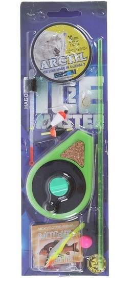 Набор для зимней рыбалки Ice Master № 2 (макси) Удочки зимние<br>Готовые наборы для зимней рыбалки предназначены <br>для того, чтобы человеку, желающему освоить <br>этот способ ловли, не пришлось тратить много <br>времени на подбор правильных и подходящих <br>снастей. Готовые комплекты для зимней ловли <br>станут прекрасным решением не только для <br>начинающих, но и для опытных рыболовов-зимников. <br>Все собранные в наборах для зимней ловли <br>снасти отлично сочетаются друг с другом. <br>В набор входят: Удочка УС-2 с шестиком 1шт. <br>Кивок лавсановый Финский 1шт. Кивок Часовая <br>пружина 1шт. Мормышка свинцово-паяная 2шт. <br>Балансир 1шт. Поплавок зимний 2 шт. Леска <br>30м, диаметр 0,16мм, разрывная нагрузка 3,20кг. <br>1шт. Мотыль искусственный 1уп. Крючок 3шт<br>