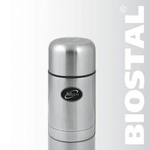Термос Biostal NТ-500 0,5л (широкое горло, суповой)Термосы<br>Легкий и прочный Сохраняет напитки горячими <br>или холодными долгое время Изготовлен из <br>высококачественной нержавеющей стали Предназначен <br>для первых и вторых блюд С чехлом для хранения <br>и переноски термоса Пробка с дополнительной <br>теплоизоляцией, и клапаном, облегчающим <br>открытие термоса Характеристики: Объем: <br>0,5 литра Высота: 15,5 см Диаметр: 10,2 см Вес: <br>600 г Размеры упаковки: 11,5х11,5х17,2 см<br>