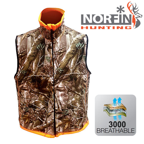Жилет Флис. Norfin Hunting Reversable Vest Passion/orange 72400