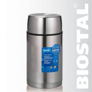 Термос Biostal Авто NRP-1000 1,0л (широкое горло,суповой, Термосы<br>Легкий и прочный Сохраняет напитки и продукты <br>горячими или холодными долгое время Изготовлен <br>из высококачественной нержавеющей стали <br>Корпус покрыт защитным прозрачным лаком <br>Предназначен для первых и вторых блюд С <br>крышкой-чашкой и дополнительной пластиковой <br>чашкой Характеристики: Объем: 1,0 литра Высота: <br>19,9 см Диаметр: 10,8 см Вес: 700 г Размеры упаковки: <br>11,3см х 11,3см х 21см<br>