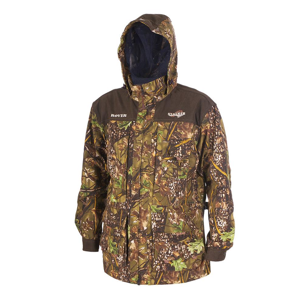Штормовка ХСН Ровер-универсальная (9793-2) Куртки неутепленные<br>Идеально подходит для охоты, рыбалки, активного <br>отдыха. Штормовка изготовлена из не шуршащей <br>ткани с содержанием хлопка с водоотталкивающей <br>тефлоновой пропиткой. Комфортная температура <br>эксплуатации от +10°С до +20°С. Особенности: <br>- съемный утягивающийся капюшон; - вшитая <br>противомоскитная сетка; - застегивается <br>на молнию; - воротник - стойка; - манжеты на <br>пуговицах; - специальный крой рукавов, обеспечивающий <br>свободу движения; - усиленная ткань на плечах.<br><br>Пол: мужской<br>Размер: 58 - 60 / 188<br>Сезон: лето<br>Цвет: камуфляжный<br>Материал: Смесовая ткань с тефлоновой пропиткой