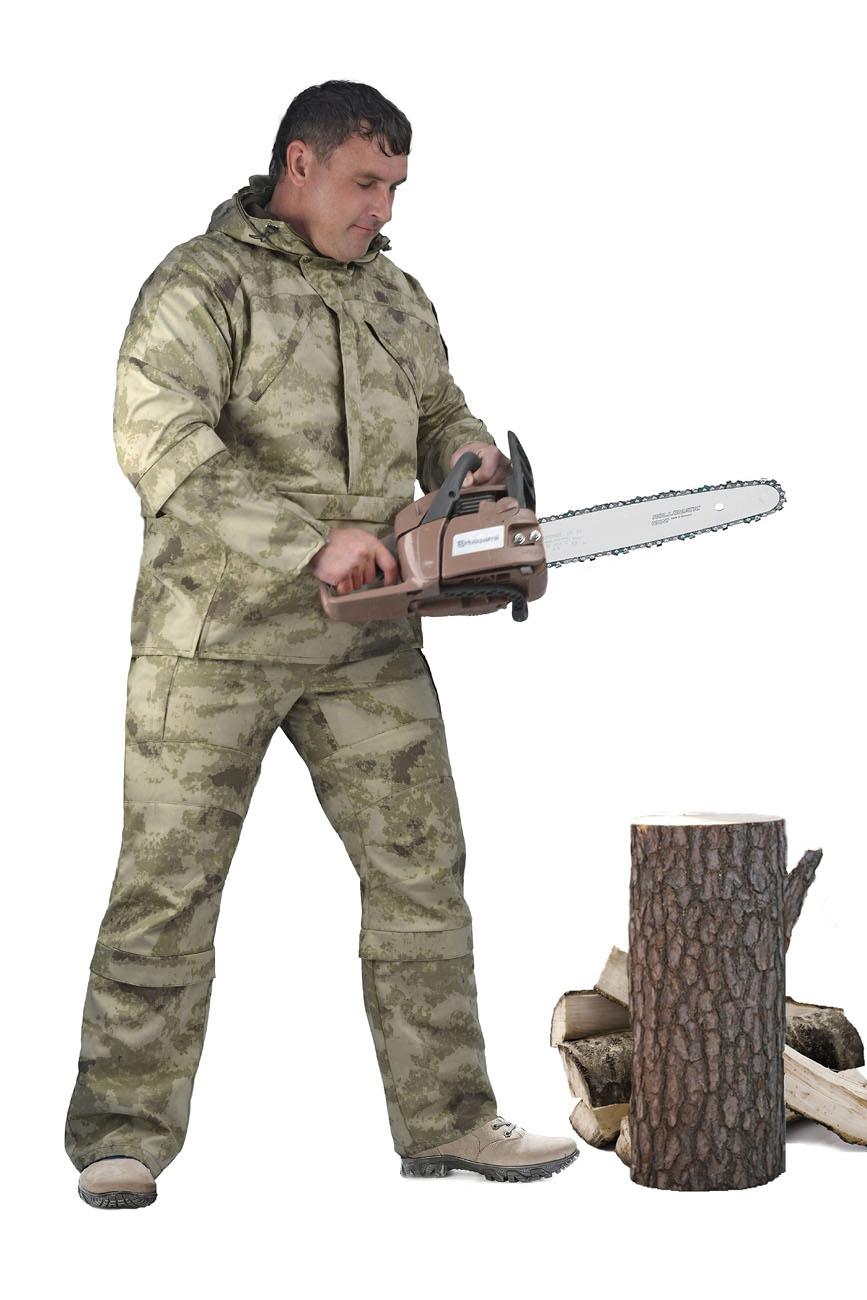 Костюм мужской Gerkon Protector летний кмф т.Смесовая Костюмы противоэнцефалитные<br>Модельные особенности: - костюм для защиты <br>от биологических факторов - капюшон на подкладке-сетка <br>сложной конструкции, исключающей проникновение <br>насекомых под одежду; - противомоскитная <br>сетка убирается в карман, расположенный <br>на капюшоне; - удобные карманы с наклонным <br>входом на молнии; - костюм оснащен ловушками <br>для насекомых - в рукавах трикотажные манжеты <br>- в куртки есть юбка для заправки в брюки <br>(что бы полностью защитить поникновение <br>насекомых) - пояс брюк на резинке со шлёвками; <br>- по низу брюк пуфта;<br><br>Пол: мужской<br>Размер: 52-54<br>Рост: 170-176<br>Сезон: лето<br>Материал: Смесовая (50% хлопок, 50% полиэфир), пл. 210 г/м2,