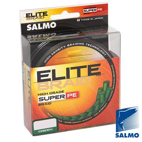 Леска Плетёная Salmo Elite Braid Green 091/040Леска плетеная<br>Леска плет. Salmo Elite BRAID Green 091/040 дл.91м/диам. <br>0.40мм/тест 36.20кг/инд.уп. Высококачественная <br>плетеная леска круглого сечения, изготовлена <br>из прочного волокна Dyneema SK65. За счет применения <br>специальной обработки волокон, ее поверхность <br>стала более «скользкой», тем самым достигается <br>максимальная дальность заброса приманки, <br>и значительно повысилась и ее износостойкость. <br>Плетеная леска отличается высокой плотностью <br>плетения, минимальным коэффициентом растяжения <br>и повышенной долговечностью. Она обладает <br>высокой чувствительностью и позволяет <br>обеспечить постоянный контакт с приманкой, <br>независимо от расстояния до ней, что крайне <br>необходимо для своевременной подсечки. <br>Высокая ее прочность допускает использование <br>более тонких диаметров плетеной лески и <br>ловить крупную рыбу. Волокона плетеной <br>лески практически не пропитываются водой, <br>что совместно со специальной пропиткой, <br>позволяет ловить ею рыбу при отрицательных <br>температурах. Изготовлена в Японии. • высокая <br>прочность • круглое сечение • повышенная <br>износ<br><br>Цвет: зеленый