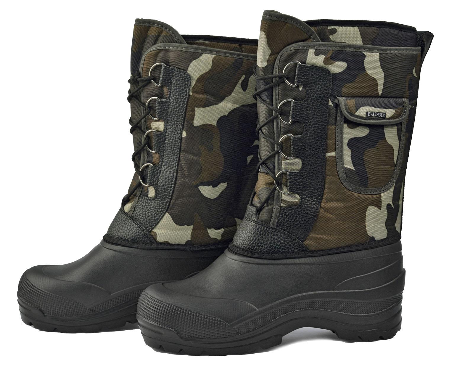 Сапоги комбинированные Милитари-Плюс (-40С) Сапоги для активного отдыха<br>Помимо водонепроницаемости и эффективной <br>защиты от холода, эта модель имеет очень <br>легкий вес. При температуре использования <br>до -40°С при активном использовании сапоги <br>Милитари обеспечивают высокий уровень <br>тепла и комфорта. Эта обувь предназначена <br>как для сырой холодной погоды, так и для <br>сильных морозов. ?Съемный меховой вкладыш <br>из натуральной шерсти с фольгой и спанбондом. <br>?Широкое утепленное голенище из водоотталкивающей <br>ткани Оксфорд на шнуровке ?Удобный карман <br>на голенище ?Утолщенная подошва с протекторами<br><br>Пол: мужской<br>Размер: 44<br>Сезон: зима<br>Цвет: черный<br>Материал: полимеры