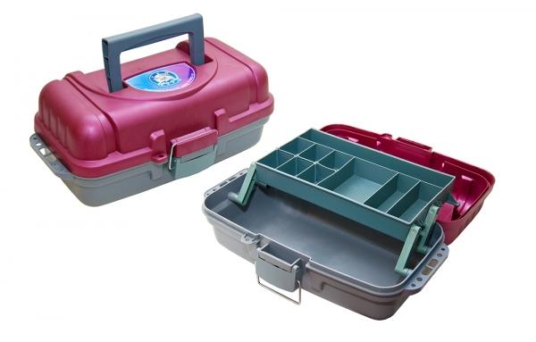 Ящик рыболовный ЯР-1 (360х190х150) 1 лотокЯщики рыболова<br>Ящик изготовлен из полипропилена, снабжен <br>удобной складной ручкой для переноски (1 <br>выдвижной лоток).<br>
